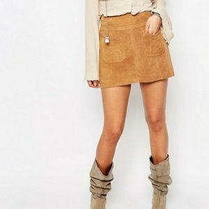 Free People Modern Skirt Beige
